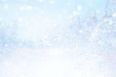 Onscherp en abstract magisch de winterlandschap Royalty-vrije Stock Afbeelding