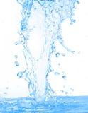 Onscherp geïsoleerdd water stock afbeelding
