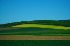 Onscherp landschap in motie royalty-vrije stock fotografie