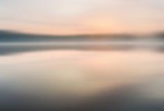 Onscherp meerlandschap nuttig als achtergrond royalty-vrije stock foto