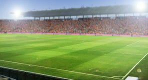 Onscherp van voetbalstadion en van de stadionarena champi van het voetbalgebied Stock Foto
