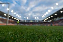 Onscherp voetbalstadion royalty-vrije stock foto