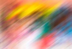 Onscherpe abstracte achtergrond met multicolored motiestrepen Stock Afbeeldingen