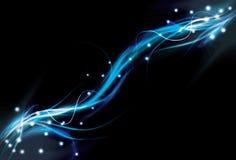 Onscherpe abstracte blauwe lichteffectachtergrond Stock Afbeeldingen