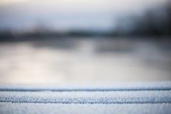 Onscherpe abstracte de winterachtergrond Stock Fotografie