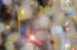 Onscherpe abstracte lichte het glasachtergrond en textuur van de troglamp Stock Foto