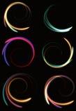Onscherpe abstracte neon spinnende spiralen Royalty-vrije Stock Fotografie
