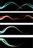 Onscherpe abstracte neonlichteffect Webbanner backg Royalty-vrije Stock Fotografie
