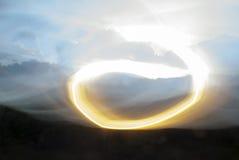 Onscherpe abstracte zonsopgangscène Stock Afbeeldingen