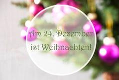 Onscherpe Ballen, Rose Quartz, Weihnachten-Middelenkerstmis Royalty-vrije Stock Foto