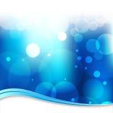 Onscherpe Blauwe Lichte Backgroun Stock Foto