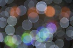 Onscherpe cirkels als achtergrond - de achtergrond van Kerstmislichten Royalty-vrije Stock Foto