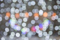 Onscherpe cirkels als achtergrond - de achtergrond van Kerstmislichten Stock Afbeelding
