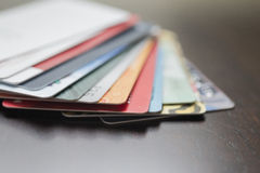 (Onscherpe) creditcards Stock Fotografie