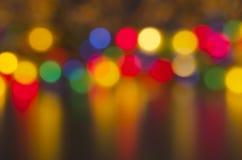 Onscherpe gekleurde lichten Stock Foto
