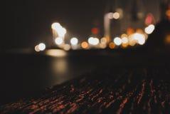 Onscherpe haven bij nacht royalty-vrije stock foto