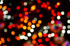 Onscherpe Kerstmislichten Stock Afbeelding