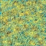 Onscherpe kleurrijke achtergrond met woorden van liefde Groen patroon stock illustratie