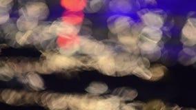 Onscherpe lichten stock footage