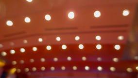 Onscherpe lijn van licht in seminarie royalty-vrije stock foto's