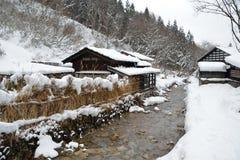 Onsen το χειμώνα Στοκ Εικόνες