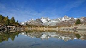Onset of autumn in Zermatt Royalty Free Stock Image