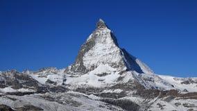 Onset of winter in Zermatt, Matterhorn Stock Image
