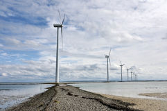 Onshore wind generatores Stock Photo