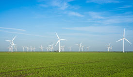 Onshore windmill power plant Stock Photo