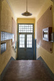 Onside of Entrance Hall Of House front door Stock Photography