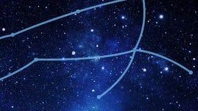 Onstellation Canis Major (CMa) de ¡ de Ð banque de vidéos