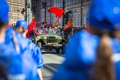 Onsterfelijk Regiment maart in de Victory Day-vieringen Royalty-vrije Stock Afbeelding