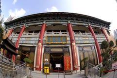 Onsterfelijk Wong Prayer Kau CIM Insence van Fung Ming Hall Sik Sik Yuen Wong Tai Sin Temple Religion Great Stock Foto