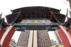 Onsterfelijk Wong Prayer Kau CIM Insence van Siksik Yuen Wong Tai Sin Temple Religion Great Royalty-vrije Stock Fotografie