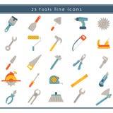 Onstruction del ¡ di Ð ed icone degli strumenti Fotografia Stock