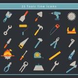 Onstruction del ¡ di Ð ed icone degli strumenti Fotografie Stock