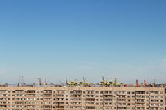 Сonstruction. The landscape of today`s large cities Royalty Free Stock Photography