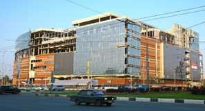 Сonstruction of new shopping center in Nizhny Novgorod Royalty Free Stock Images