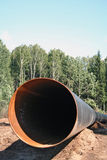 сonstruction of the pipeline Stock Image