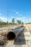 Сonstruction of the pipeline Royalty Free Stock Photos