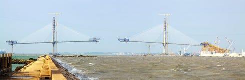Onstruction process of La Pepa Bridge. Cadiz Stock Images