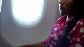 Onstuimigheid op het vliegtuig stock video