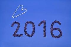 2016 ont fait à partir des grains de café Photos libres de droits