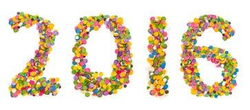2016 ont fait des confettis Photos libres de droits