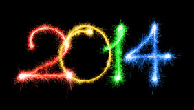 2014 ont fait un cierge magique Image libre de droits