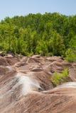 Ontario& x27; Badlands för s Cheltenham av Caledon Arkivbild