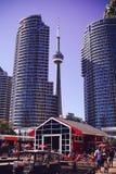 Ontario cn skyline Toronto jezioro wieży fotografia royalty free