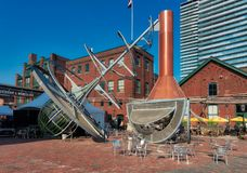 Ontario Distillery District. The historic Distillery district of Toronto is now a major tourist destination, filled with bars and restaurants stock images