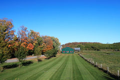 Ontario farm land in autumn stock photo