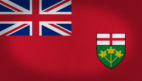 Ontario flag Stock Photo